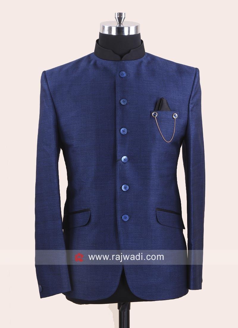 Royal Blue Color Jodhpuri Set