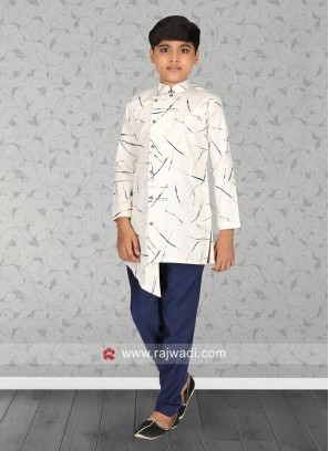 Stylish White Color Kurta Pajama