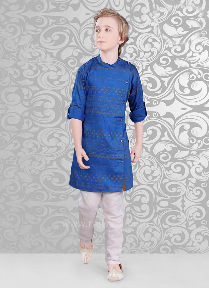 Royal Blue Color Kurta Pajama