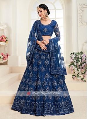 royal blue color lehenga choli