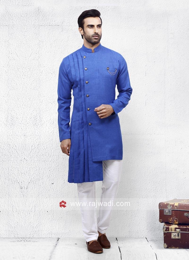 Royal Blue Color Pathani Set