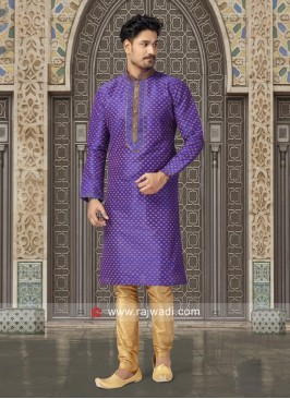 Purple Color Kurta Set