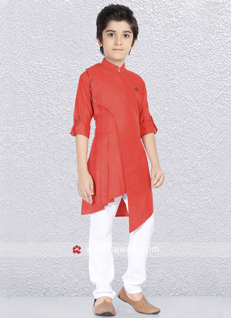 Dark Peach Kurta Set For Party