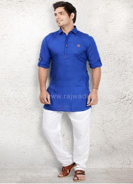 Royal Blue coloured Pathani Suit