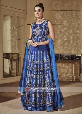 Royal Blue Designer Choli Suit