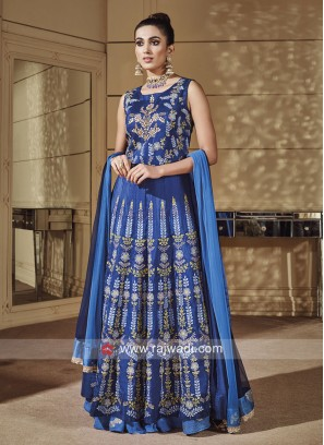 Royal Blue Designer Choli Suit