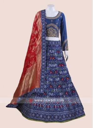 Royal Blue Embroidered Lehenga Choli