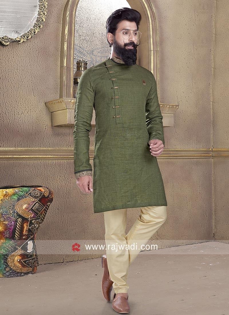 Attractive Green Pathani Suit