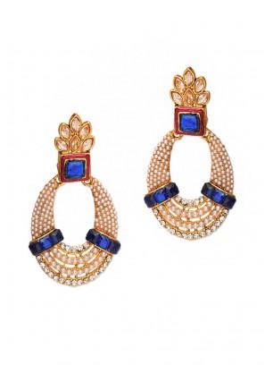 Royal Blue Pearl Earrings