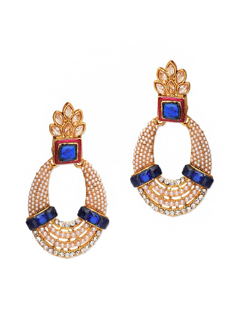Royal Blue Pearl Earrings