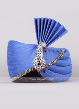 Royal Blue Safa For Wedding