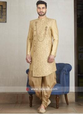 Golden Zari Embellished Indo Western