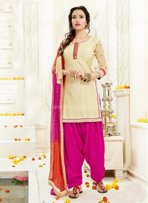 Royal Embroidered Patiala Suit with Dupatta