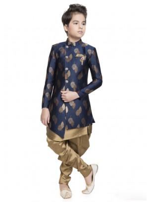 Royal Look Indo Westen In Navy Blue Color