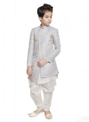 Royal Look Indo Westen In Slate Grey Color