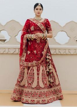 Royal Look Lehenga Choli In Maroon Color