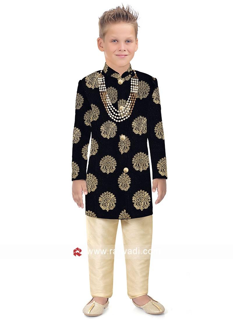 Royal Look Velvet Fabric Indo Western