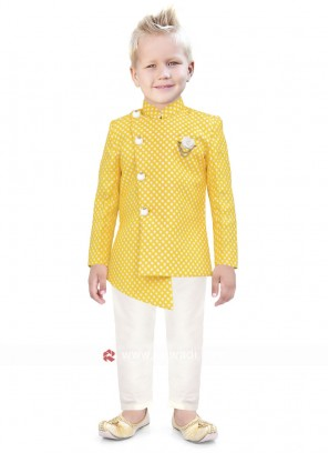 Royal Look Yellow Color Indo Western