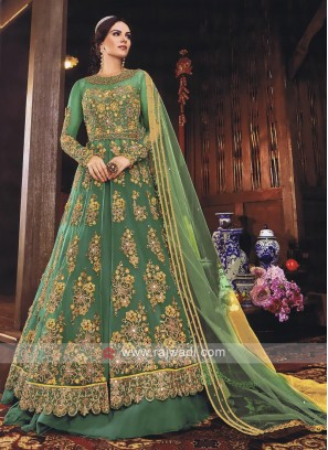 Royal Rama Green Salwar Kameez