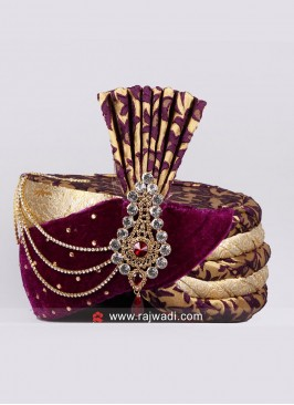 Royal Safa With Fancy Broach