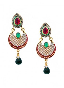 Royal Splash Pinch Drop Earrings