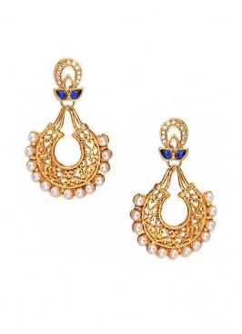 Royal Twig Pearl Swing Earrings