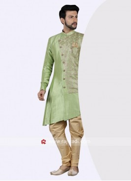 Royal Pista Green Wedding Indo Western