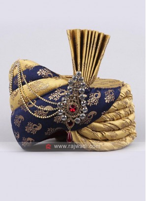 Royal Wedding Turban in Brocade Fabric