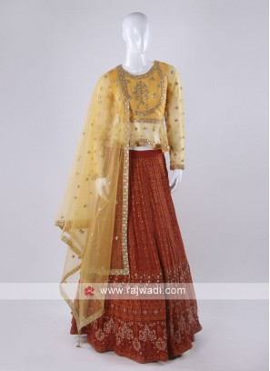 Rust and orange lehenga choli