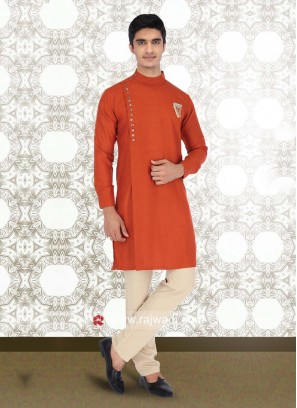 Rust Color Kurta Pajama
