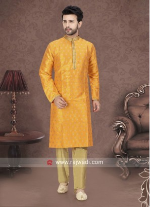 Mango Color Kurta Pajama