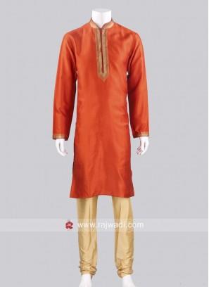 Rust Color Kurta Pajama