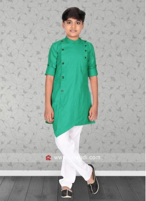 Light Green Color Pathani Set