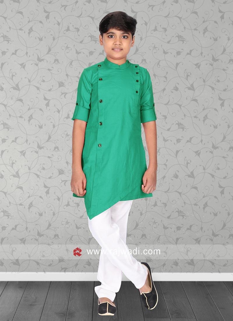 Light Green Color Pathani Set