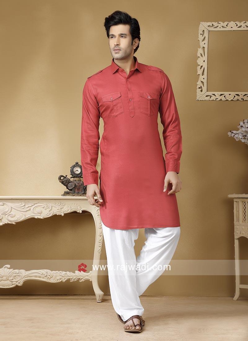Rust Color Pathani Set