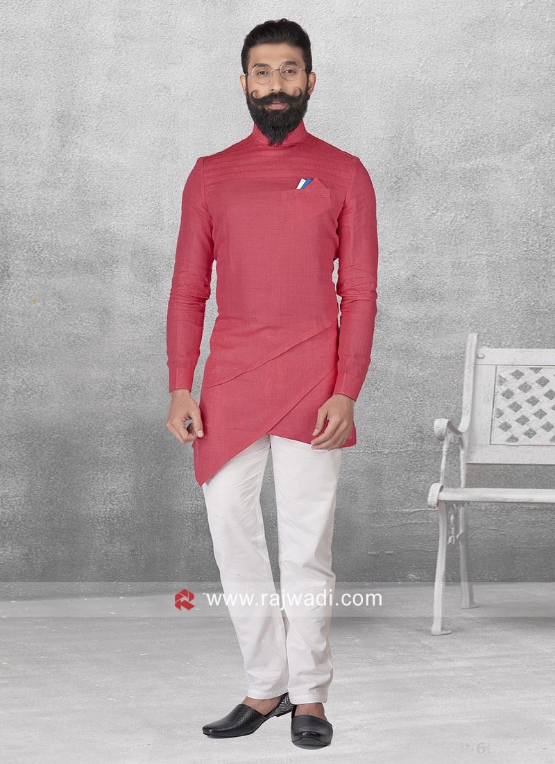 Rani Color Pathani Suit For Mens