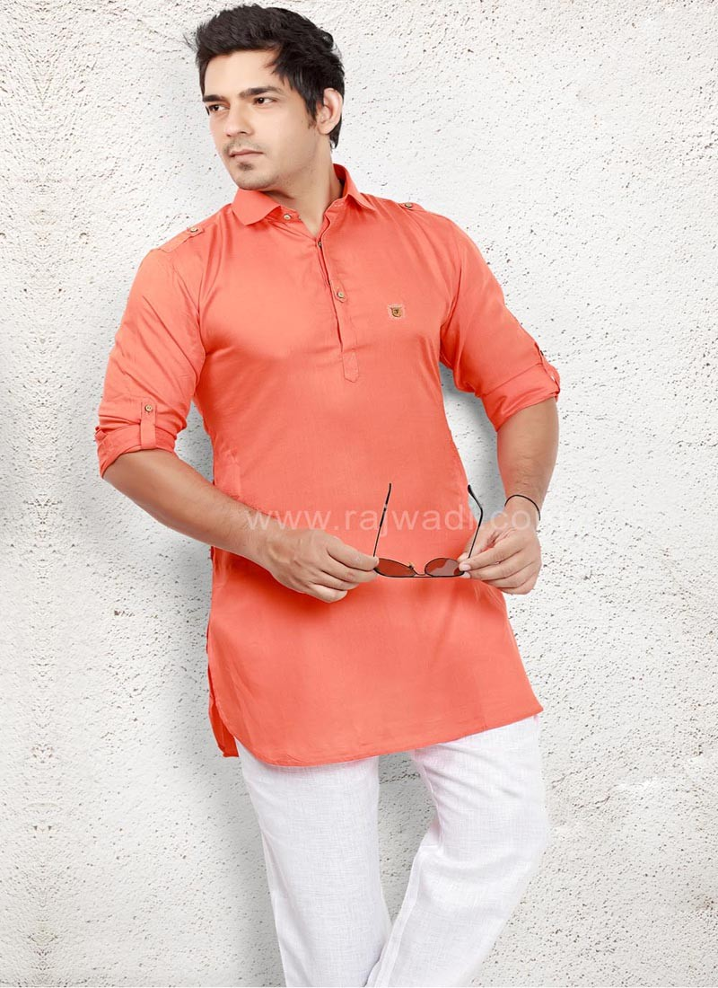 Rust coloured Pathani Suit