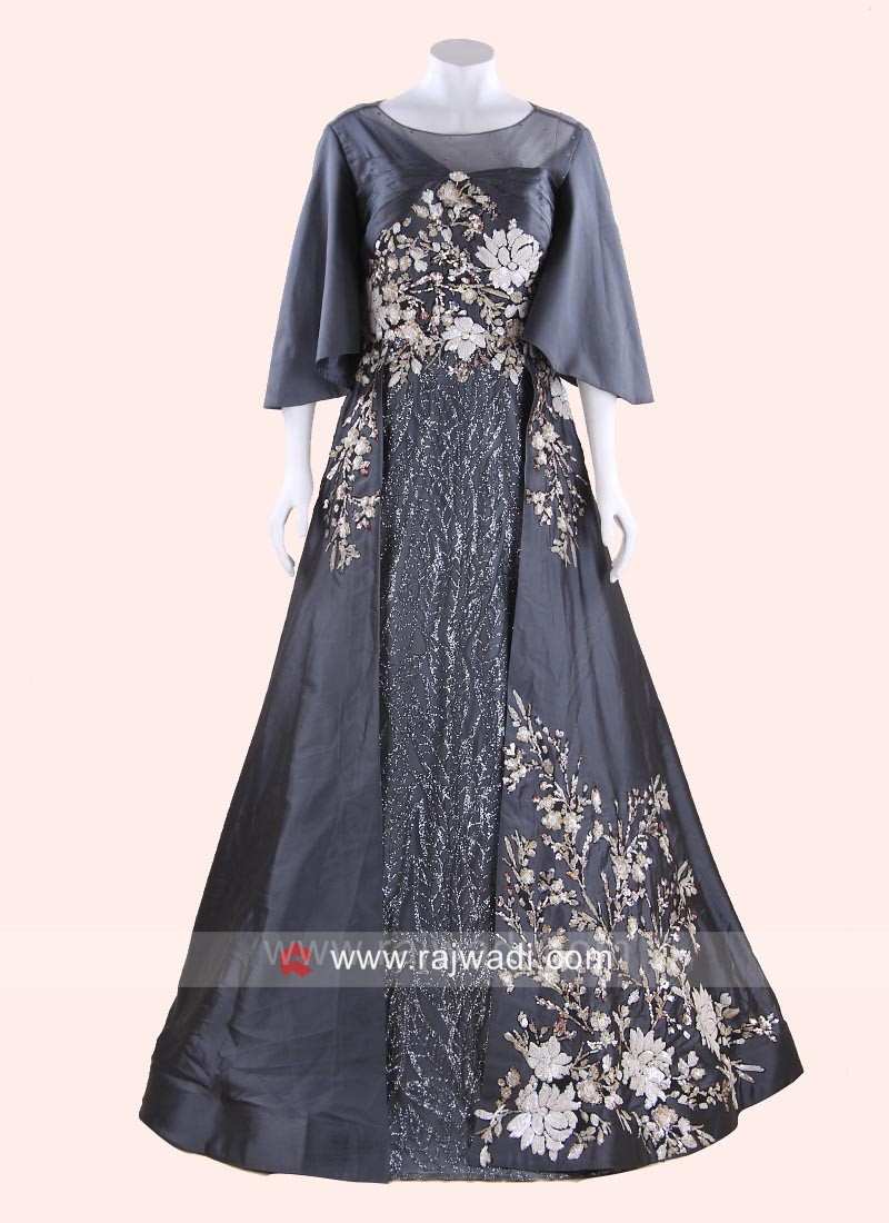 Salli Work Gown in Grey