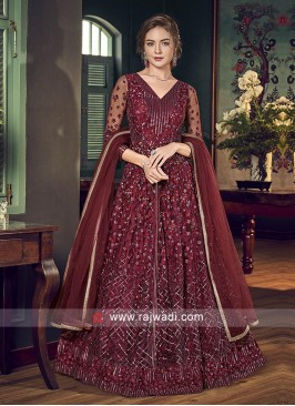 Salwar Suit in Maroon