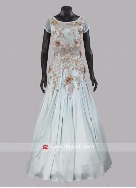Satin A Line Designer Gown