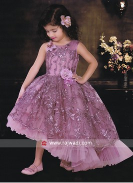 Satin and Net Heavy Trail Gown