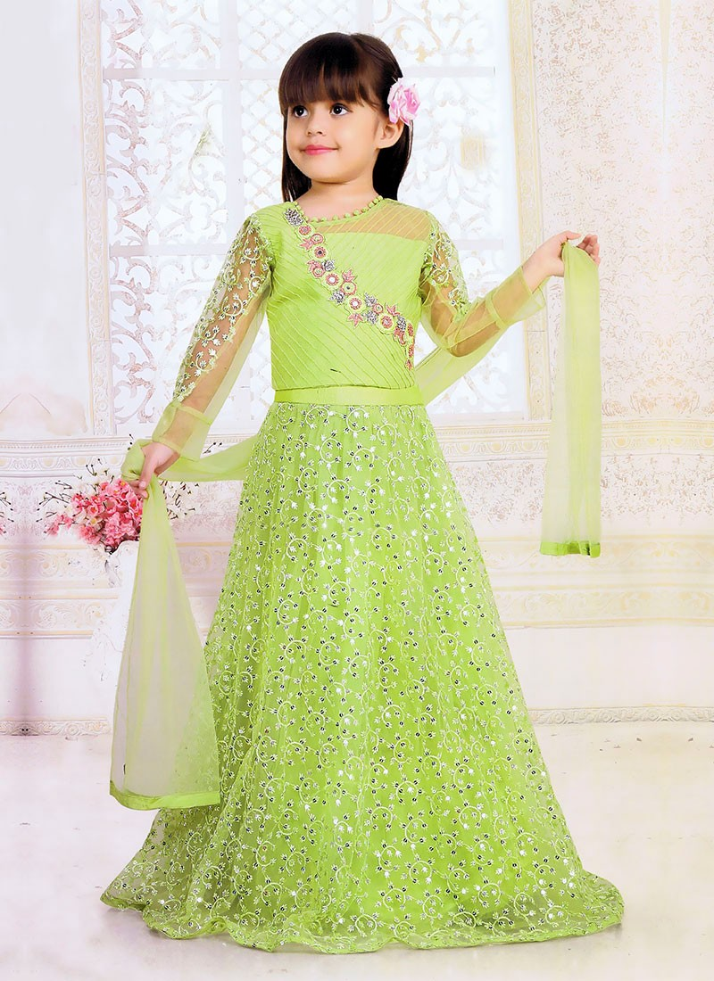 Satin and Net Wedding Suit for Kids