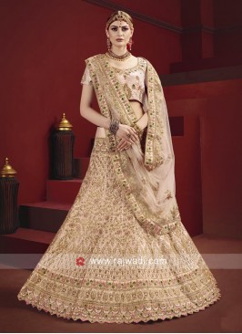 Satin Embroidered Lehenga Choli