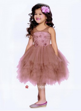 Satin Net Handkerchief Gown for Kids