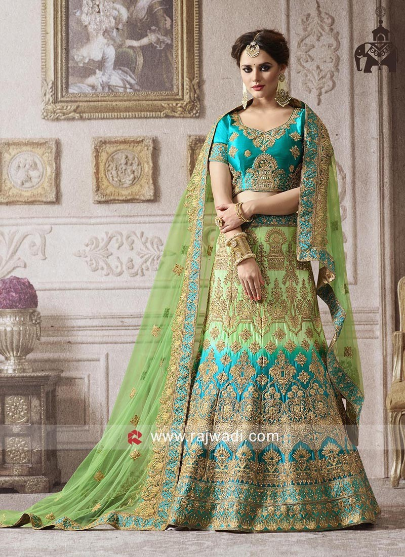 Satin Shaded Heavy Lehenga Choli