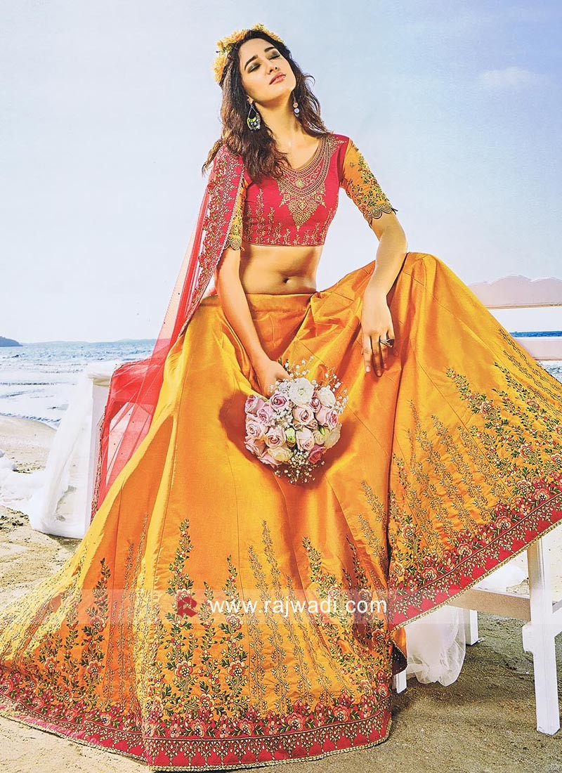 Satin Silk and Art Silk Lehenga Choli