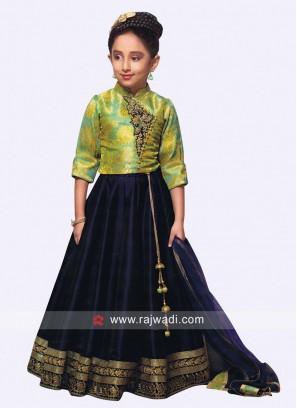 Satin Silk Designer Lehenga Set
