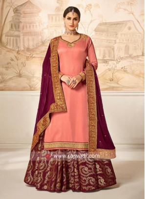 Satin Silk Designer Salwar Kameez
