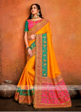Satin Silk Designer Saree