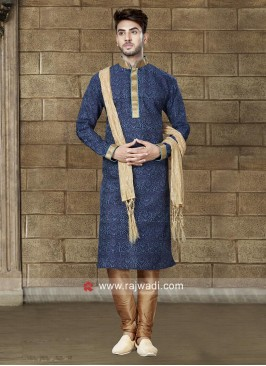 Attractive Navy Kurta Set